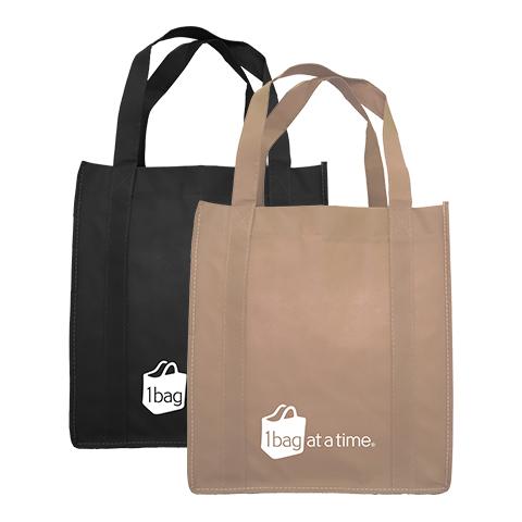 Custom bags in black and tan